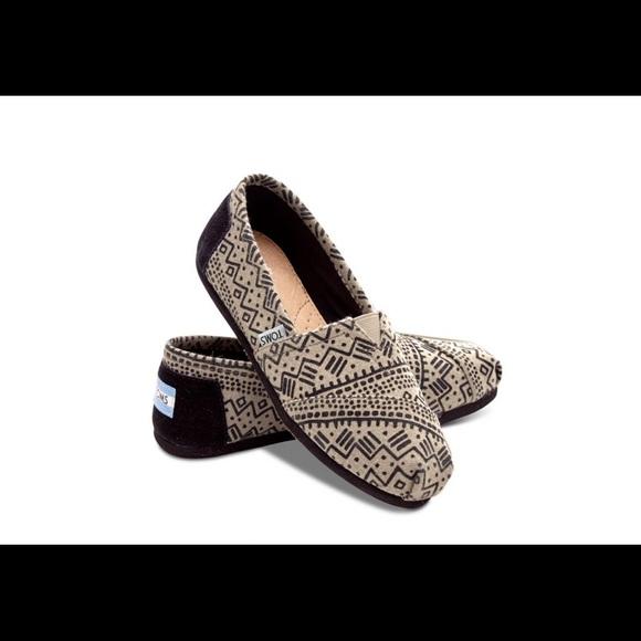 6e3fb91f308 Toms classic alpargatas Black taupe wool shoes